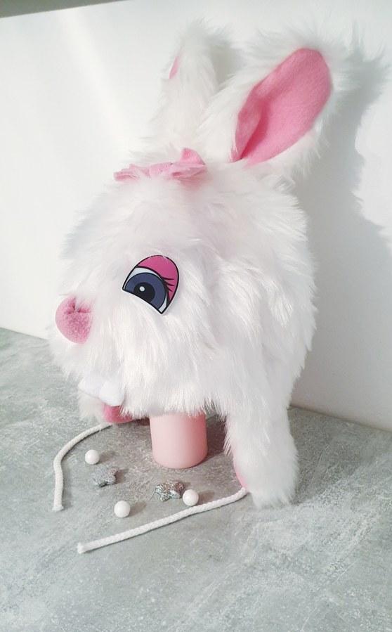 Krásna teplá čiapka zajko- pink ušká