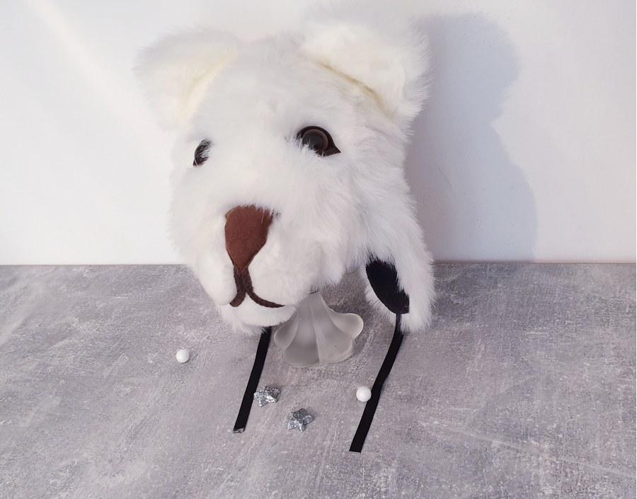 Krásna teplučká čiapka medveďa