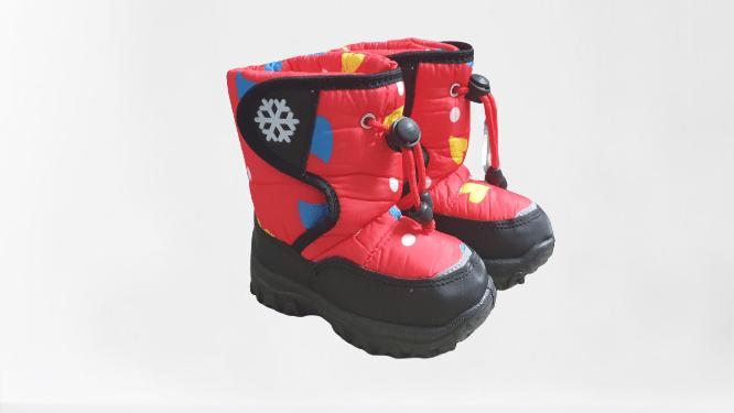 detské snehuľky -červená vločka