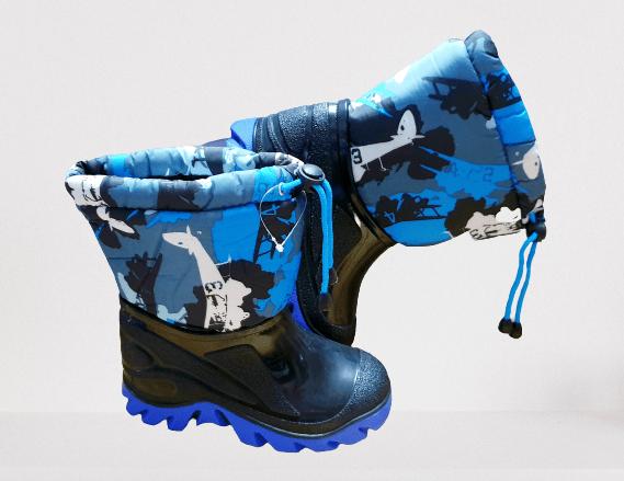 Detské gumáky zateplené, Modré
