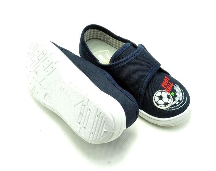 Papuče modro-biele, suchý zips