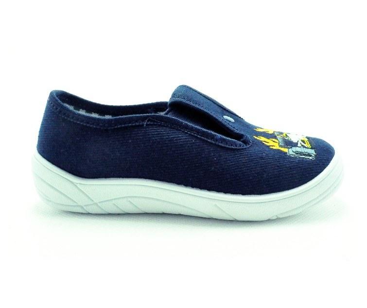 Papuče modro-biele, gumka