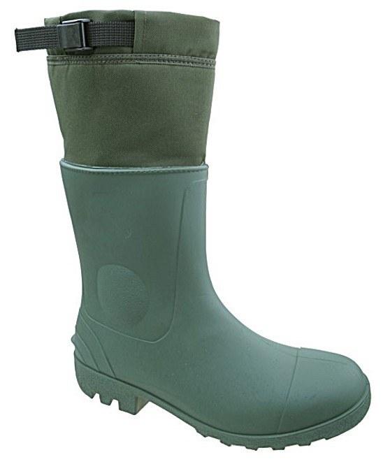 Gumofilcové čižmy zelené - pracka