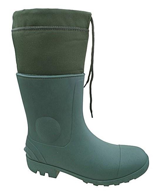 Gumofilcové čižmy zelené -šnúrka