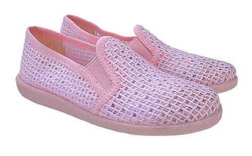 Detské priedušné mokasíny ružové